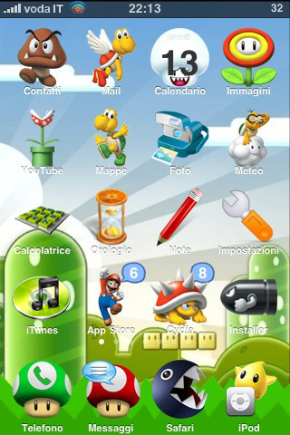 iPhone theme - SuperMario Bros