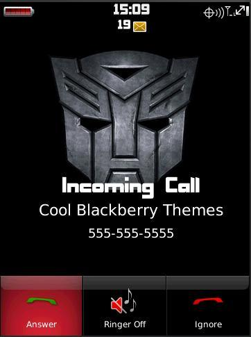 Tema de Transformers para BlackBerry Storm 9500/9530